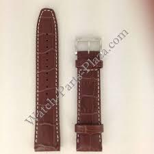 seiko watch band seiko calf 4a332 b 21 mm brown leather strap 7t62 0hx0