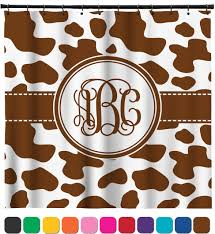 Cow Print Shower Curtain Personalized Potty Training Concepts