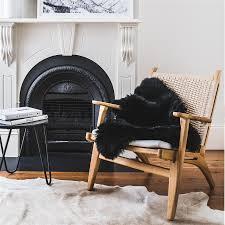 black sheepskin rug. Sheepskin Rug - Black. Next Black E