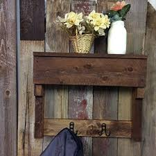 Wall Coat Rack With Storage Classy Amazon Rustic Wood Wall Coat Rack Entryway Storage Distressed