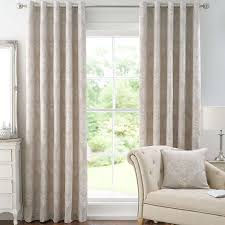 Lined Bedroom Curtains Natural Seraphina Lined Eyelet Curtains Dunelm Reception Rooms