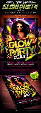 glow flyer glow party flyer template by industrykidz graphicriver