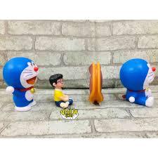 Mô hình Doraemon - Mô hình 2 tư thế Doremon ngồi và đứng vẫy tay - Cao  9~10cm - Mô hình nhân vật Thương hiệu No brand