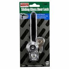 prestige sliding glass door lock chrome