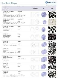 Mm Bead Chart No Stash Preciosa Beads Ofbeaddesigns Medium
