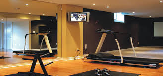 ... Stylish Dark and Brown Basement Color Paint for Your Gym Room ...