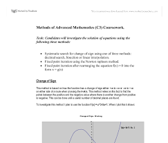 methods of advanced mathematics c coursework a level maths  document image preview