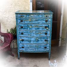 distressed blue furniture. Blue Shabby Chic Furniture. Large, French Antique Dresser, Distressed Blue, Highboy Furniture