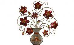 flower vase wall decor unique flower in vase metal wall d cor on flowers in vase metal wall art with simple flower vase drawings new realistic still life art beautiful
