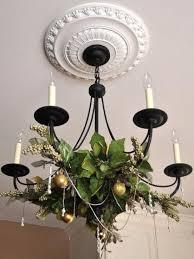 berries and leaves gold ornaments for chandelier decor