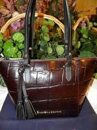 dooney bourke dq0972 ud denison maxine leather tote espresso black