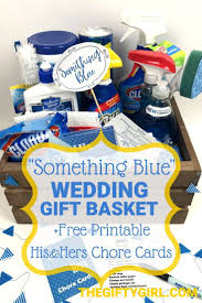 diy gifts 2018 2019 something borrowed something blue bridal shower gift basket