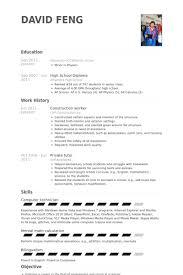 construction worker resume samples visualcv resume samples database sample resume for construction worker