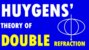 Polarization Of Light Physics Ppt Huygens Theory Of Double Refraction Polarisation Physics Huygens