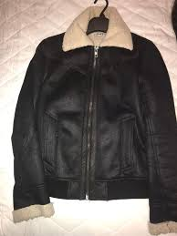topman faux suede borg jacket size small