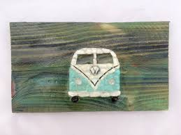 sea glass vw bus glass mosaic