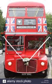 bus for hire stock photos & bus for hire stock images alamy Wedding Hire London Bus a red london bus 'wedding special', in greenwich, se london, england wedding hire london bus