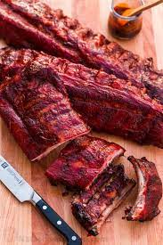 smoked ribs with the best glaze