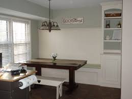 banquette dining room furniture. Two Base Breakfast Table Legs In Dark Finished Feat White Built Banquette Bench And Open Cabinetry Storage Dining Room Furniture R