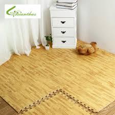 soft eva puzzle crawling pad interlock foam wood texture floor mat waterproof rug for child bedroom living room kitchen gym 30cm in mat from home garden