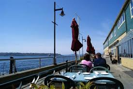 dining seattle waterfront. outdoor fine dining hospitality design of elliots oyster house, seattle waterfront o