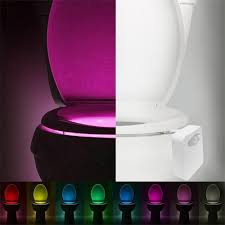 Light Pink Toilet Seat Cover Us 1 94 15 Off Smart Led Human Motion Sensor Activated Toilet Night Light Bathroom With 8 Color Toilet Seat Lamp Automatic Sensor Seat Light In Led