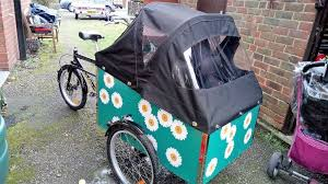 bella bike 4 2016 cargo bike with 2 seats and foldaway travel stroller with rain