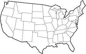 blank usa map black borders 50 united states quiz edumac on states worksheets