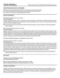 Commercial Appraiser Sample Resume] Estate Appraiser Resume .