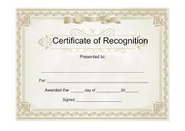 free recognition certificates 25 useful resources of certificate of recognition template