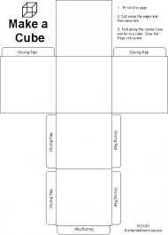 Printable Cube Cube Template Printable Free Template Design Example Template Design