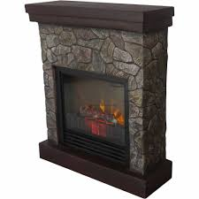 decor flame electric space heater fireplace with 28 mantle dark chocolate com