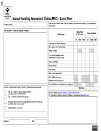 Fillable Online Sussex Ac Manual Handling Assessment Chard