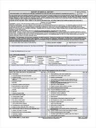 Sample Medical History Form 24 Medical Physical Form Samples Free Sample Example Format Download 24