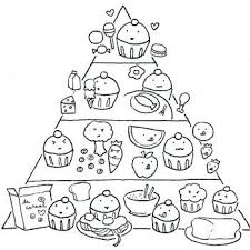 Food Pyramid Coloring Page For Preschoolers Food Coloring Page Food