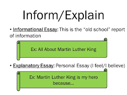 essays there are types of essays in the world some essays 2 inform explain informational