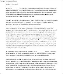Appeal Letter For College Dismissal Sample Word Doc Download