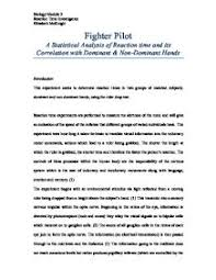 fighter pilot a statistical analysis of reaction time and its  page 1