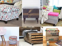 amazing diy storage ottoman ideas to create the most functional piece in your living rooom