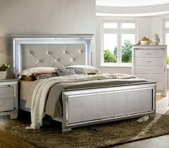 Bellanova Panel Bedroom Set Silver Sets Cm7979sv Q Queen bed Silver Bedroom  Furniture Design