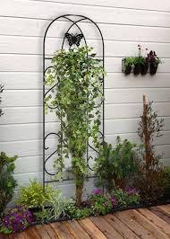 metal garden trellis keep vine plants