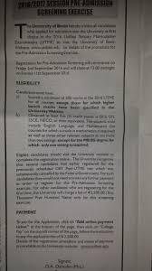 resume When Is Uniben Resuming latest university of benin uniben pre  admission screening