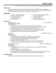 Landscaping Resume Best Landscaping Resume Example Livecareer