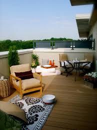 Imposing EcoFriendly Apartment Deck Decorating Concept Offering - Exterior decking materials