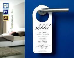 Door Hanger Sign Template Allcoastmedia Co
