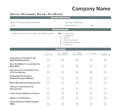 Simple Performance Review Template Lovely Annual Employee