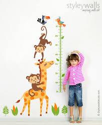 Growth Chart Wall Decal Giraffe Growth Chart Wall Decal