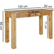 Finebuy Konsolentisch Rusti 120 X 50 X 85 Cm Mango Massiv Holz Natur