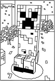 Printable Minecraft Creeper Coloring Pages Elijah Minecraft