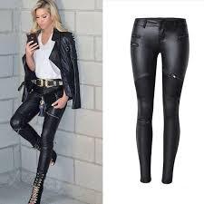 2019 2019 winter black women pu leather pants big plus size pants trousers women high waist stretch pencil pants pantalon femme from seanliugao
